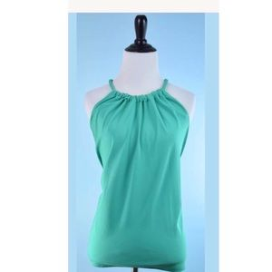 Rachel Roy Teal Braided Halter Top Summer Tank
